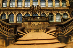 Stairs - Zwinger - Dresden (FarbenfroheWunderwelt) Tags: beautiful stairs canon germany deutschland dresden zwinger nice symmetrical curved barock 550d barockstil