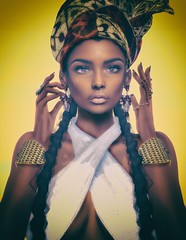 My mind is killing me... (Katy Hastings) Tags: african artizana cosmopolitan homage iconic izzies kunglers letre meva phedora portrait retrato spirit catwa