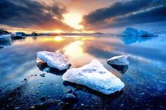 Jkulsrln (TXA Photography) Tags: jkulsrln glacierlagoon glacier iceland icelandphototours iceberg water sunset reflection sky clouds landscape seascape hdr highdynamicrange longexposure leefilter europe travel winter fourseasons