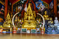 Doi Suthep - More Golden Buddhas (Anoop Negi) Tags: doi suthep thailand chapel gautam buddha golden bhumisparsha sitting photo chiangmai anoop negi ezee123 photography religion old thai