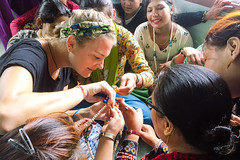 Nepal: Jewelry designer from U.S. visits 'She Has Hope' home as guest teacher (Peace Gospel) Tags: girls women trafficking survivors brave courageous courage beautiful beauty lovely loved smiles smiling smile happy happiness joy joyful peace peaceful hope hopeful thankful grateful gratitude handmade crafts craftsmanship fashion accessories beads beaded jewelry teaching empowerment empowered empower