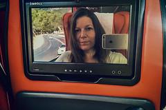 Twist (Melissa Maples) Tags: manavgat turkey trkiye asia  apple iphone iphone6 cameraphone me melissa maples selfportrait woman brunette coach bus mirror reflection photographer road