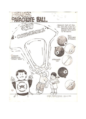 1975 Ralston Hasbro Freakies Cereal Box Premium Concept Production Art Parachute Ball