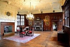 The Withdrawing Room (rustyruth1959) Tags: rug carpet frieze arms table cabinet plates pictures frames portraits light windows withdrawingroom room armour door walls floors chairs fireplace wood elizabethan ceiling plaster building house architecture indoor tudormansion tudor hall davenport bramallhall bramhall stockport greatermanchester tamron16300mm nikond3200 nikon
