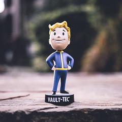 Fallout Vault Boy Bobblehead (Chanock Sanchez) Tags: depthoffield bokeh fallout fallout4 gaming bobblehead vaultboy vaultboybobblehead falloutbobblehead vaulttec 1x1 urban vsco lightroom houston houstonphotographer tutorial howto