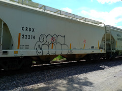 2CET? (Chicago City Limits) Tags: freight train graffiti benching freights 2cet