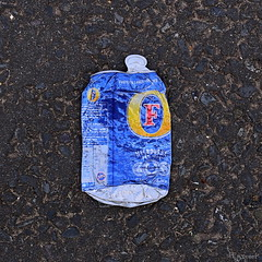 flat lager (amazingstoker) Tags: can fosters tin lager tarmac flat basingstoke basingrad basing view australia melbourne eastrop amazingstoke visual pun