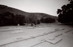 Exa 1C Spadra Cemetery 7 () Tags: vintage retro classic film camera losangeles california riverside history west coast architcture eastgerman ddr gdr exa dresden slr 35mm black white bw kodak tmax m42 abandoned cemetery
