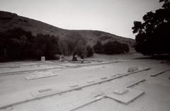 Exa 1C Spadra Cemetery 7 () Tags: vintage retro classic film camera losangeles california riverside history west coast architcture eastgerman ddr gdr exa dresden slr 35mm black white bw kodak tmax m42 abandoned cemetery