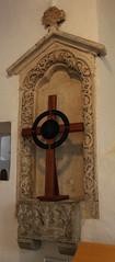 Llantwit Major, Glamorgan (Vitrearum (Allan Barton)) Tags: llantwitmajor glamorgan church medieval sculpture gothic reredos niche image jessetree