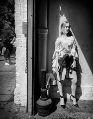 Lil Smoke Break (mkc609) Tags: bw smokebreak smoker street streetphotography blackandwhite blackwhite urban candid nyc newyork newyorkcity alley