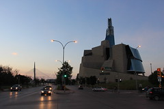 Canadian Museum of Human Rights (36ViewsGuy) Tags: canada museum winnipeg tourism architecture icon modern manitoba exterior pioneer avenue morning traffic