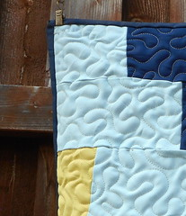 LEISURE SUIT QUILT - Quilt Rescue by DLQ (DLQuilts) Tags: leisuresuitquilt polyesterquilt quiltrescueinprogress afterquiltrescue dlq dlquilts dlquiltrescue stairstepquilt overallmeander alloverquilting edgetoedgequilting freehandmeander handfinishbind binding sturdyquilt picnicquilt quiltsfromclothes nearsolidbacking