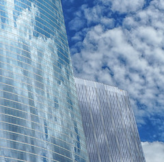 Pixelated (Explored, 30-Aug-2016) (bjg_snaps) Tags: architecture sky urban clouds skyscraper chicago camoflage glass pixelated windows