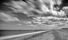 Spurn, East Yorkshire (cdwpix) Tags: ywt spurn point beach waves sea humber groins sky clouds nd filter long exposure