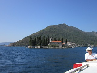 Perast: View of Sveti Đorđe (St. George Island) From Bay of Kotor
