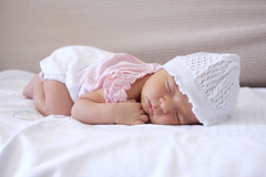 DSCF8901_1607 (MicheleBranca) Tags: baby pink nap fujifilm xm1 fujinon27mm love bed littlegirl hat sweet sweetbaby neonato newborn bambino angel angelbaby infant sleeping baturallight children