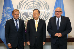 President Tusk on the UNGA in New York (europeancouncilpresident) Tags: un unga eu european europeanunion president council donald tusk new york united nations general assembly migration ban ki moon frank timmermans
