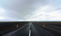 The way is long (ironpoison) Tags: iceland trip travel road vanishing point lanscapa dark cloudy nature straight