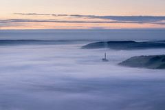 Hope Valley - blue hour (Tim Allott) Tags: sky cloud landscape dawn cementworks hopevalley bluehour mist derbyshire mamtor peakdistrictnationalpark september2016 inversion