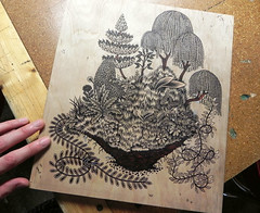 Element: Earth (Tugboat Printshop) Tags: printmaking woodcut woodblock theelements originalprint handmadeprint paulroden tugboatprintshop pittsburghart traditionalprintmaking valerielueth woodcutprintmaking earthprint theelementsprintsearthwaterfireair