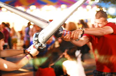 Inflatable Sword Fight (Tania A.) Tags: toronto cne midway canadiannationalexhibition inflatableswords taniaanderson inflatableswordfight