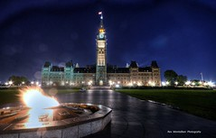 parliament building in the nation's capital (Rex Montalban) Tags: longexposure night ottawa hdr parliamentbuildings centreblock photomatix rexmontalbanphotography pse9