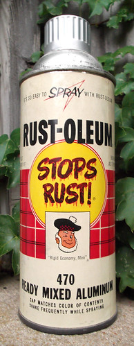 old vintage 1960 rust oleum spray paint can 470 aluminum a photo on. Black Bedroom Furniture Sets. Home Design Ideas