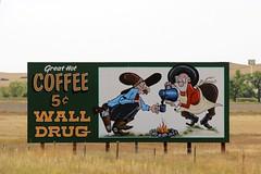 Wall Drug Billboard (the_mel) Tags: coffee wall southdakota highway cowboy billboard advertisement drug 90 i90 walldrug
