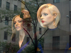 Saks: Framed, 2 Blondes (Viridia) Tags: nyc newyorkcity urban newyork mannequin fashion reflections frames mannequins dress manhattan nightshoot dresses fifthavenue saksfifthavenue saks storewindows newyorkny summerfall windowdisplays newyorkcityny 5thavenuenyc sakscompany midtownnyc saksfifthavenuewindows rootsteinmannequins saksfifthavenuewindowdisplay saksfifthavenueflagshipstore saksfifthavenuewindowdisplays