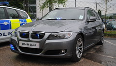Surrey Police / BMW 330d / Roads Policing Unit / **61 *** (Chris' 999 Pics) Tags: old uk blue light england woman man film speed lights bill pc nikon bars pix order fuji cops united nick fine blues samsung kingdom cop finepix copper and fujifilm service law hd enforcement breakers emergency 112 siren coppers arrest policeman 999 constable 991 twos strobes policing lightbars rotators d3000 leds s2750