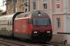 SBB Lokomotive Re 460 097 - 9 bei Weinfelden im Kanton Thurgau in der Schweiz (chrchr_75) Tags: train de tren schweiz switzerland suisse swiss eisenbahn railway zug sbb september locomotive re christoph svizzera chemin centralstation fer 2012 locomotora tog ffs juna bundesbahn lokomotive lok ferrovia 460 spoorweg suissa locomotiva lokomotiv ferroviaria cff  1209 re460 locomotief chrigu  rautatie  schweizerische zoug trainen  chrchr hurni chrchr75 bundesbahnen chriguhurni september2012 albumsbbre460 albumbahnenderschweiz2012712 chriguhurnibluemailch hurni120914 albumzzz201209september