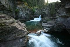 Waterfall (MT.Capitan) Tags: water creek canon river waterfall montana rocky rapids glaciernationalpark gushing stmaryfalls xti