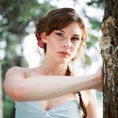 Kaileen (Sandy Phimester) Tags: tlr film beauty square eyes kodak dream 400 delicate gaze portra