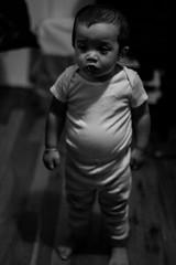 (Corey A. O'Hara) Tags: boy blackandwhite baby white black detail cute canon children 50mm toddler soft babies shadows child bokeh f14 adorable lips longisland sharp spanish chubby sharpness 60d