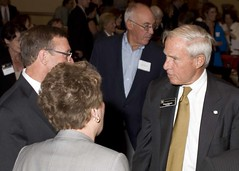 """CU President Bruce Benson speaks with Commissioner of Education Robert Hammond • <a style=""""font-size:0.8em;"""" href=""""http://www.flickr.com/photos/41190584@N03/8006696318/"""" target=""""_blank"""">View on Flickr</a>"""