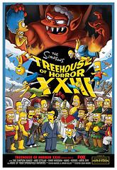 Poster pour la 23ème édition de l épisode sépcial Halloween des Simpsons