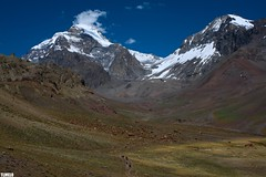 """""""Don't think"""" -  Aconcgua - Mendoza - Argentina (TLMELO) Tags: sky panorama mountain snow ice gelo southamerica nature arge"""