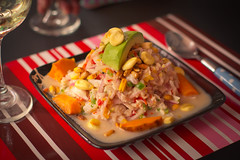 Cebiche a la Peruana (DGTX) Tags: chile sea food fish pez peru canon avocado mar corn wine spoon alimento foodporn latinoamerica pescado ceviche vino maiz camote palta reineta cebiche seviche sebiche dgtx dieguetexxx diegoarayacorvaln diegoarayacorvalan diegoacorvalan arayacorvalan canont2i