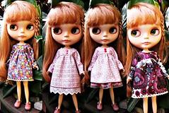 4 vestidos manga larga
