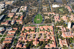 Stanford University Quad (Jill Clardy) Tags: ca red tower church modern buildings campus tile drive memorial university tour view ride lawn zeppelin s quad aerial palm roofs stanford 100views hoover palo alto oval memchu 6790