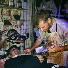 Blood Manor Haunted House 2012 surgeon (Downtown Traveler) Tags: nyc halloween scary makeup gore horror performers thrills hauntedhouse