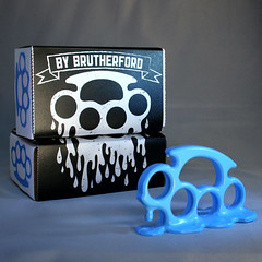 cyan1 (BryanBrutherford) Tags: nj plastic drip made melt punch resin brass knuckles brassknuckles cmyk knuckleduster brutherford