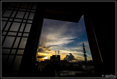 Lazy Evening (ujjal dey) Tags: sunset window canon outside evening wide wideangle dreams through eveningsky sigma1020mm canon500d widelens ujjal lazyevening ujjaldey ujjaldeyin
