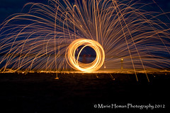 Wire Wool Spinning (Homan Photography) Tags: nightphotography flickr 5 award beachshots wirewoolspinning