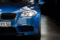BMW M5 (tteichmann) Tags: blue wheel 35mm nikon bokeh rder sigma tire f10 gotha turbo 200 bmw blau nikkor 70 softbox m5 v8 rf motorsport 602 drift dx schreiber 560 yn reifen strobist yongnuo 560ps