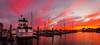 Endless... (Cygnus~X1 - Visions by Sorenson) Tags: california blue sunset red sky panorama orange white water yellow clouds marina boats pier losangeles dock explore endlesssummer oxnard channelislandsharbor craigsorenson visionsbysorenson