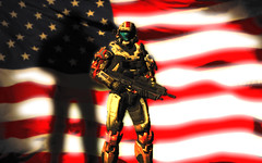 USA Spartan (Dröm Relier Cresceré) Tags: art photoshop cool halo adobe american reach spartan