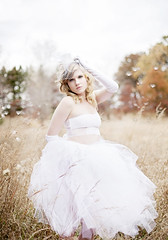 Whimsical (veronica_barnes) Tags: autumn white fall field hat top mini gloves portraiture blonde conceptual tutu whimsical