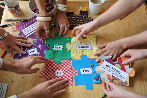 #imapiece Craftivist Jigsaw Project by craftivist collective, on Flickr